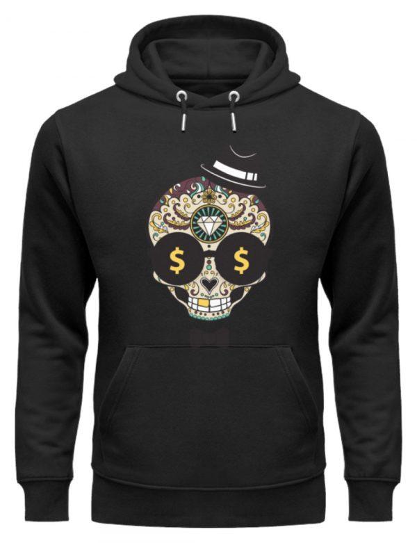 SpreeRocker Dollar Skull - Unisex Organic Hoodie-16