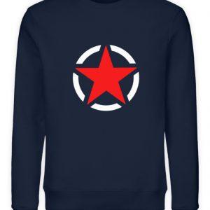 SpreeRocker Red + White Star - Unisex Organic Sweatshirt-6887