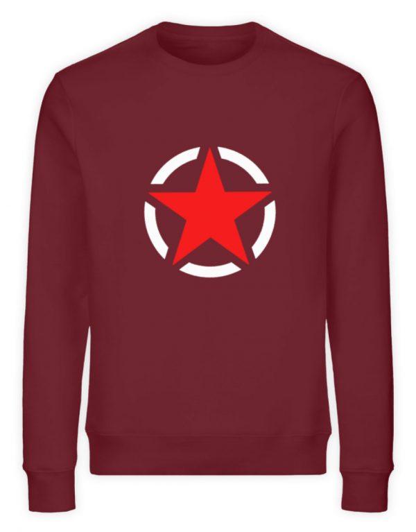 SpreeRocker Red + White Star - Unisex Organic Sweatshirt-6883