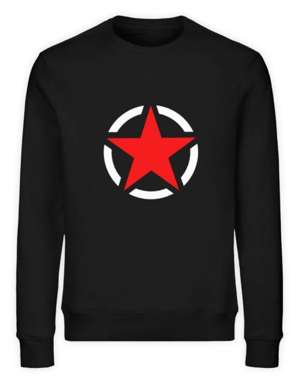 SpreeRocker Red + White Star - Unisex Organic Sweatshirt-16