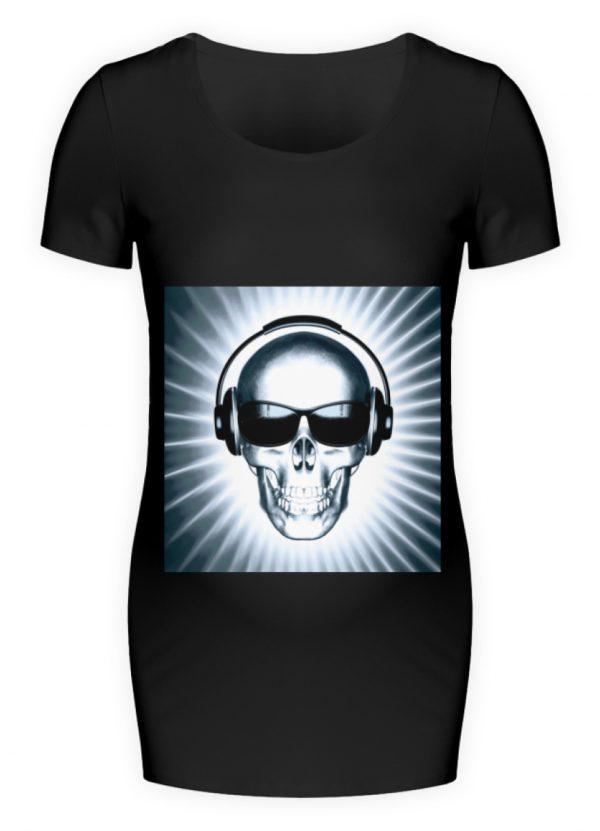 SpreeRocker Skull 1 - Schwangerschafts Shirt-16