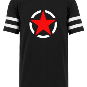 SpreeRocker Red + White Star - Striped Long Shirt-16