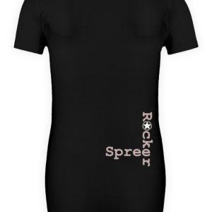 SpreeRocker Pink Skull - Schwangerschafts Shirt-16