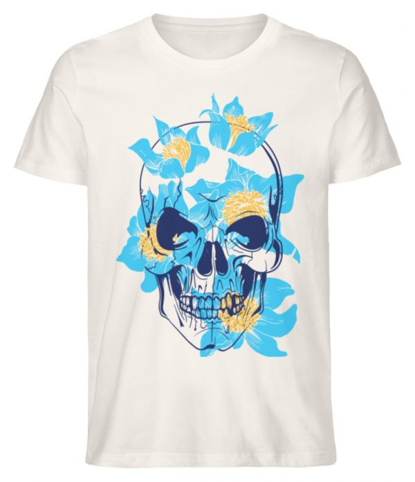 SpreeRocker Blue Skull - Herren Premium Organic Shirt-6881