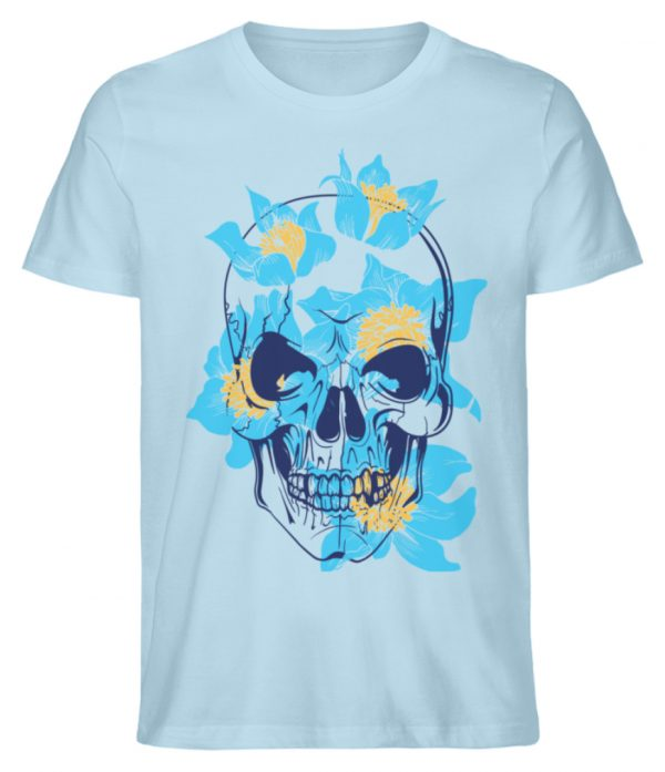 SpreeRocker Blue Skull - Herren Premium Organic Shirt-6888