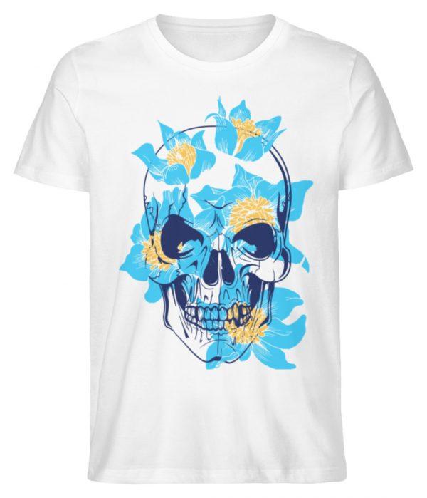 SpreeRocker Blue Skull - Herren Premium Organic Shirt-3