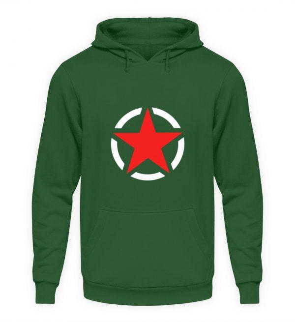 SpreeRocker Red + White Star - Unisex Kapuzenpullover Hoodie-833