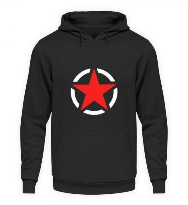 SpreeRocker Red + White Star - Unisex Kapuzenpullover Hoodie-1624