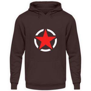 SpreeRocker Red + White Star - Unisex Kapuzenpullover Hoodie-1604