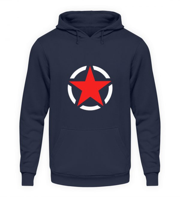 SpreeRocker Red + White Star - Unisex Kapuzenpullover Hoodie-1698
