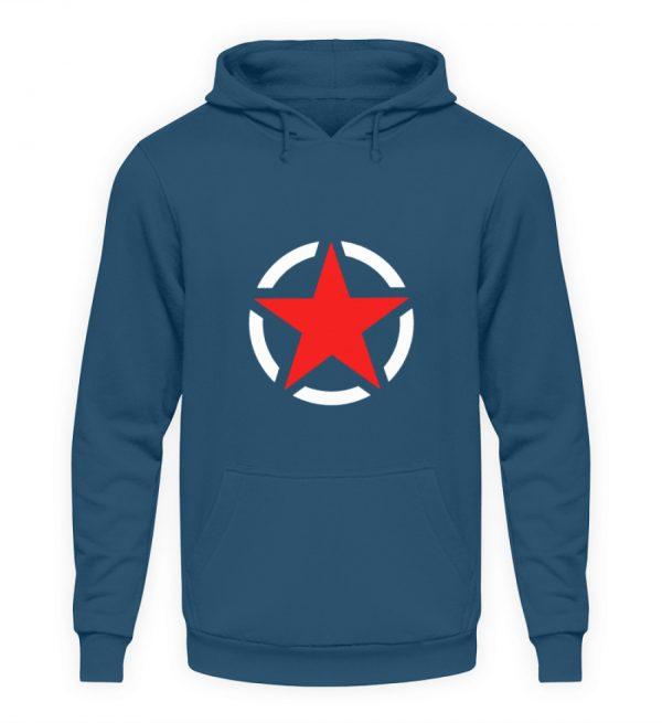 SpreeRocker Red + White Star - Unisex Kapuzenpullover Hoodie-1461
