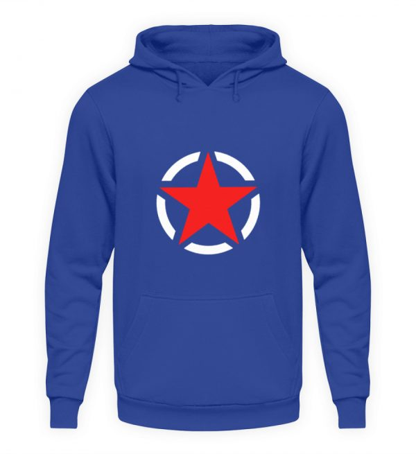 SpreeRocker Red + White Star - Unisex Kapuzenpullover Hoodie-668