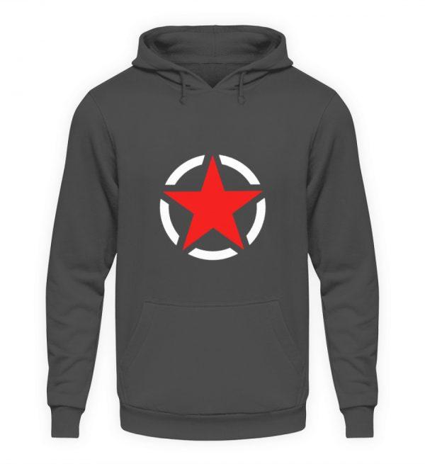 SpreeRocker Red + White Star - Unisex Kapuzenpullover Hoodie-1762