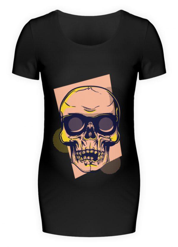 SpreeRocker Orange Skull - Schwangerschafts Shirt-16