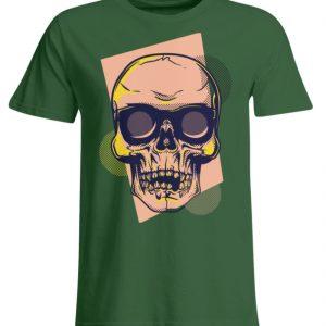 SpreeRocker Orange Skull - Übergrößenshirt-833