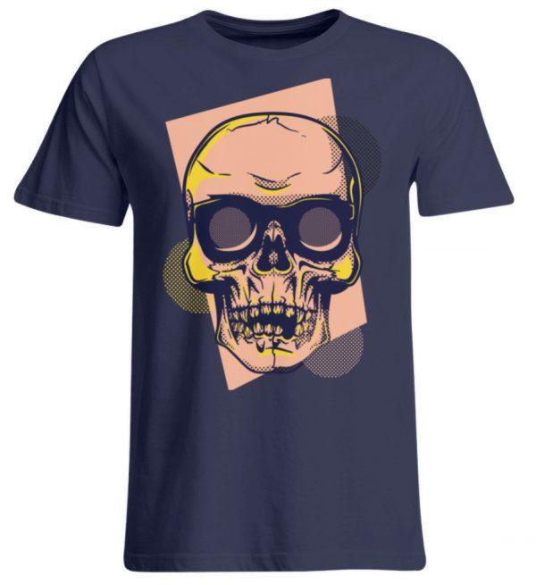 SpreeRocker Orange Skull - Übergrößenshirt-198