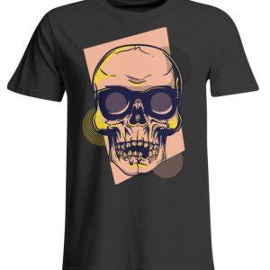 SpreeRocker Orange Skull - Übergrößenshirt-639