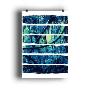 Poster Blue Jungle - DIN A1 Poster (hochformat)-3