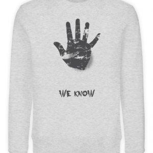 SpreeRocker We Know - Unisex Organic Sweatshirt-6892