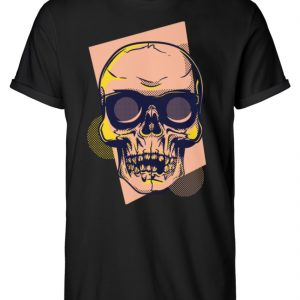 SpreeRocker Orange Skull - Herren RollUp Shirt-16