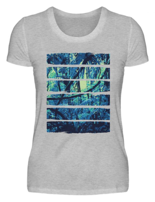 SpreeRocker Blue Jungle - Damenshirt-17
