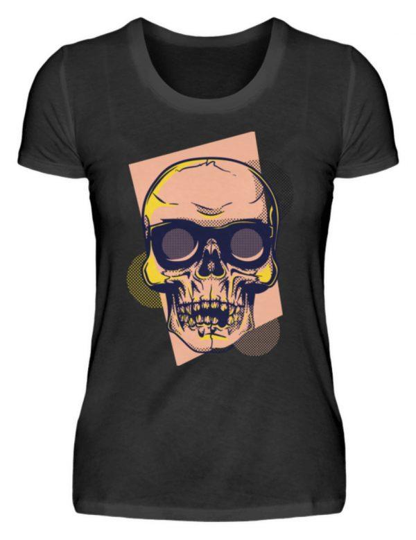 SpreeRocker Orange Skull - Damenshirt-16