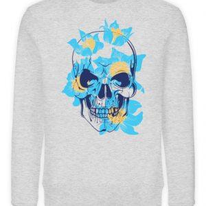 SpreeRocker Blue Skull - Unisex Organic Sweatshirt-6892