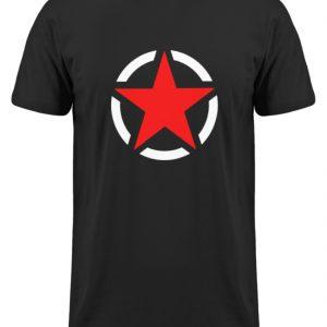 SpreeRocker Red + White Star - Herren Long Tee-16