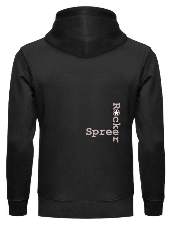 SpreeRocker Pink Skull - Unisex Organic Hoodie-16