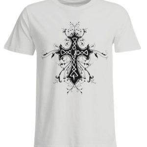 SpreeRocker Black Cross - Übergrößenshirt-1053
