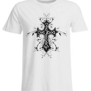SpreeRocker Black Cross - Übergrößenshirt-3