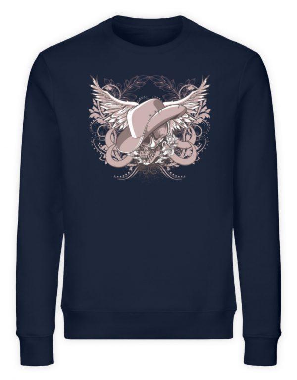 SpreeRocker Rose Skull - Unisex Organic Sweatshirt-6887