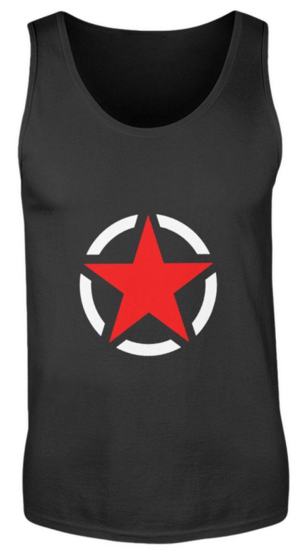 SpreeRocker Red + White Star - Herren Tanktop-16