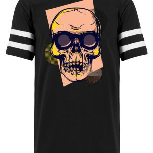 SpreeRocker Orange Skull - Striped Long Shirt-16