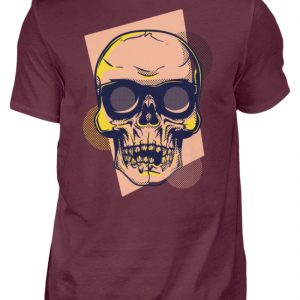 SpreeRocker Orange Skull - Herren Shirt-839
