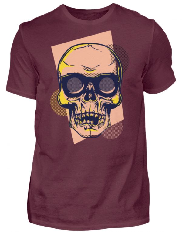 SpreeRocker Orange Skull - Herren Shirt-839