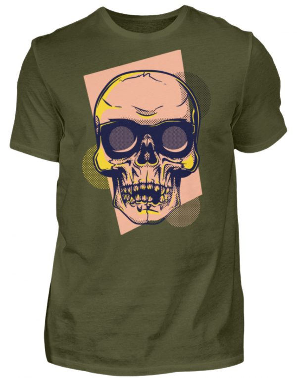 SpreeRocker Orange Skull - Herren Shirt-1109