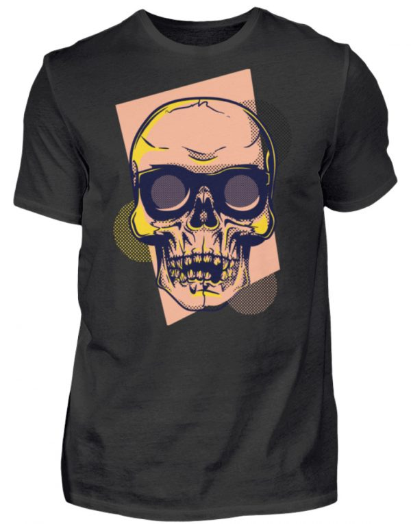 SpreeRocker Orange Skull - Herren Shirt-16