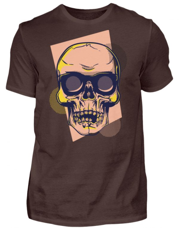SpreeRocker Orange Skull - Herren Shirt-1074