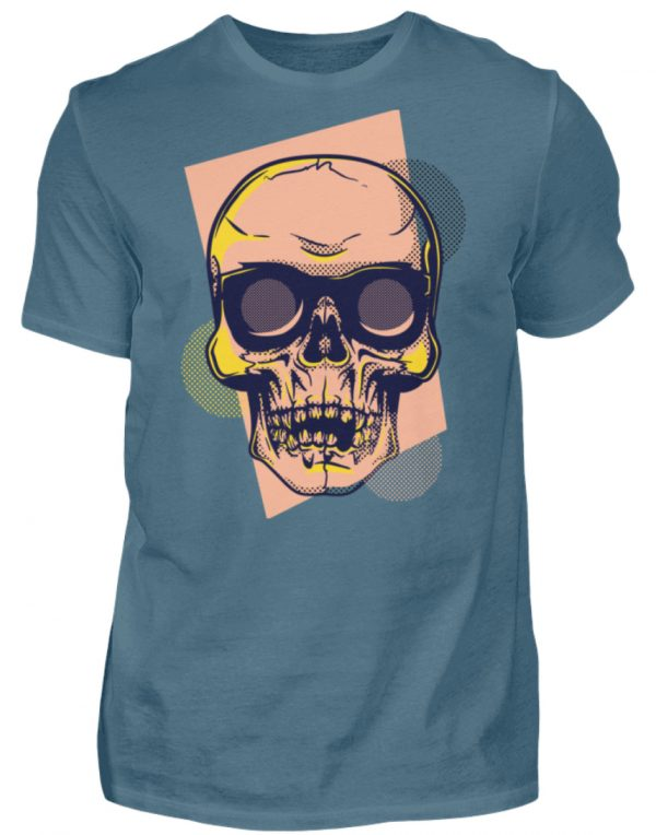 SpreeRocker Orange Skull - Herren Shirt-1230