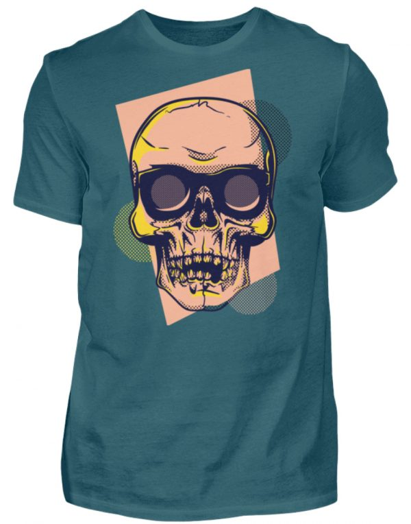 SpreeRocker Orange Skull - Herren Shirt-1096