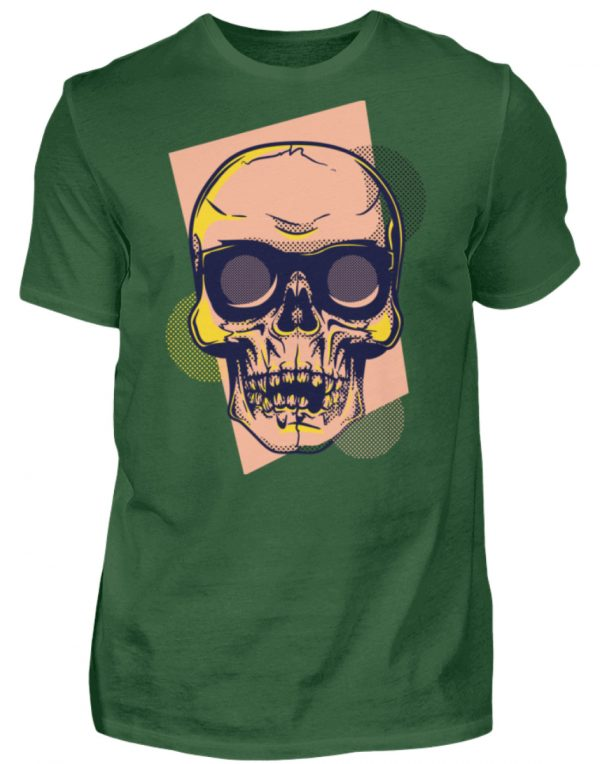 SpreeRocker Orange Skull - Herren Shirt-833
