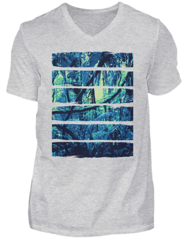 SpreeRocker Blue Jungle - Herren V-Neck Shirt-236