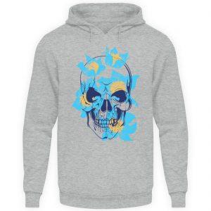 SpreeRocker Blue Skull - Unisex Kapuzenpullover Hoodie-6807