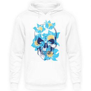 SpreeRocker Blue Skull - Unisex Kapuzenpullover Hoodie-1478