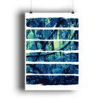 Poster Blue Jungle - DIN A2 Poster (hochformat)-3