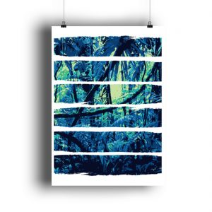 Poster Blue Jungle - DIN A2 Poster (hochformat)-3