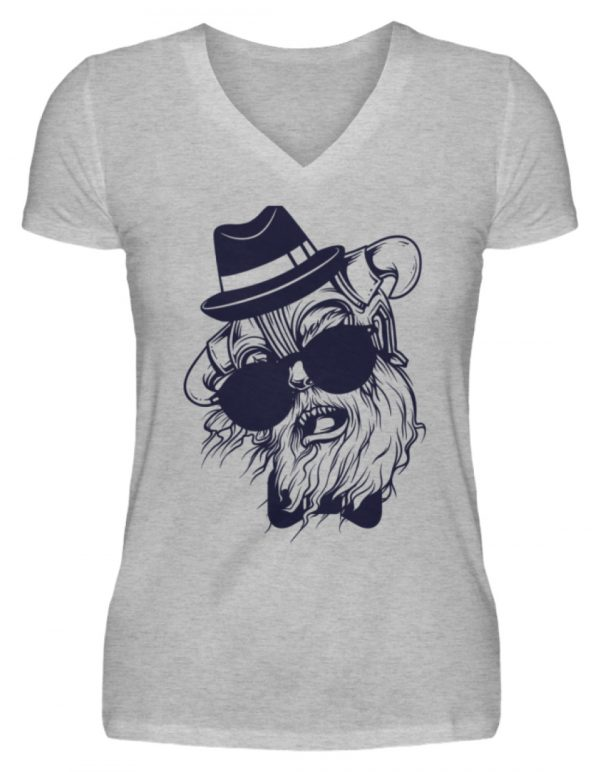 SpreeRocker Sunglass Monkey - V-Neck Damenshirt-17