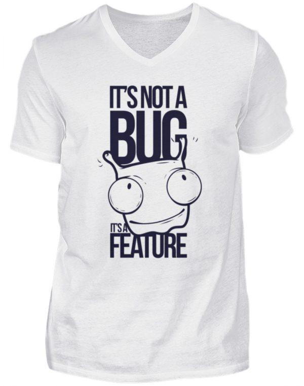 SpreeRocker Not A Bug - Herren V-Neck Shirt-3