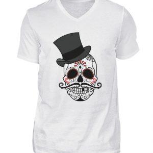 SpreeRocker Skull of Dead - Herren V-Neck Shirt-3